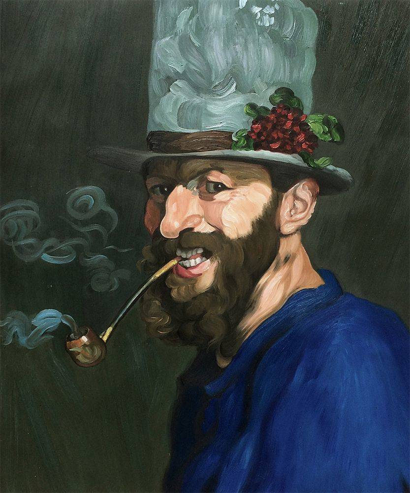 Self Portrait with a Pipe