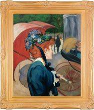 Woman with Umbrella, 1891 Pre-Framed