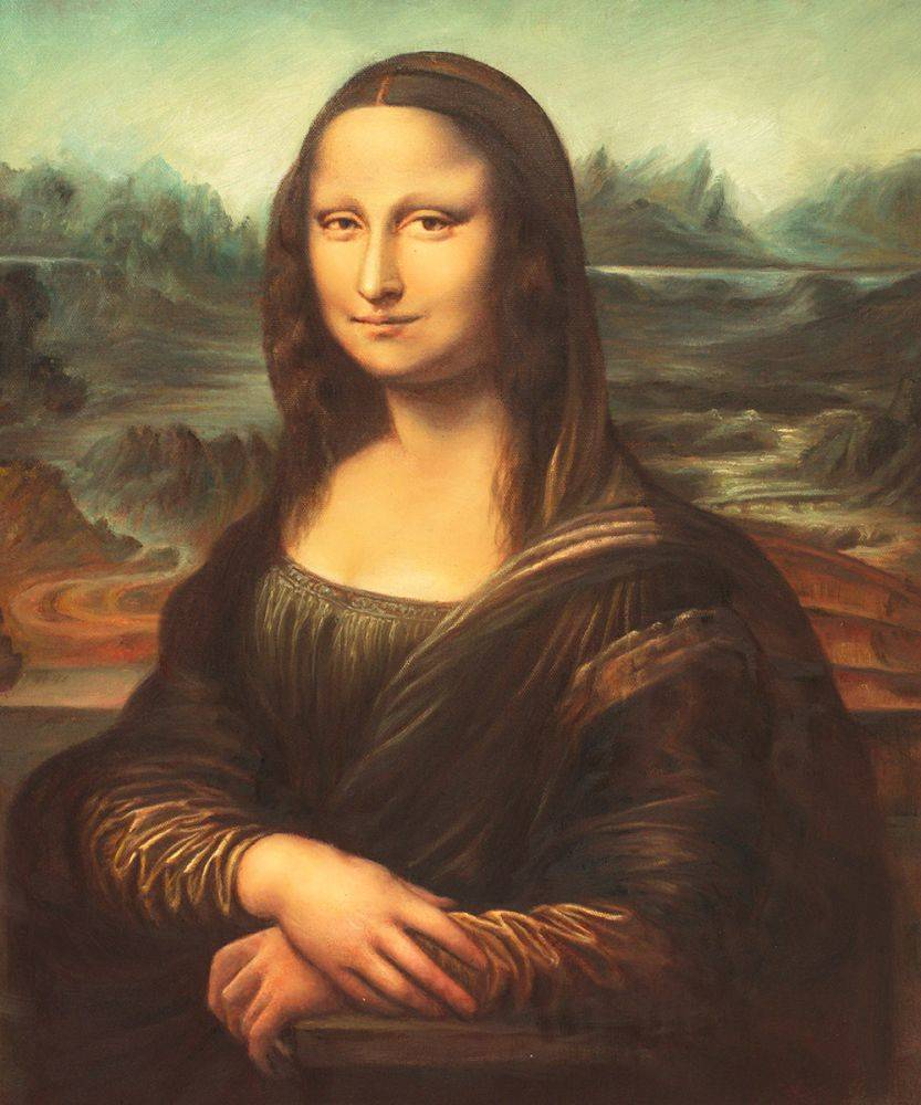 Leonardo da Vinci, Mona Lisa - Oil Painting on Canvas Da Vinci Paintings