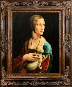 Lady With an Ermine Pre-Framed