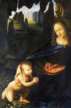 Virgin of the Rocks (Louvre detail with child)