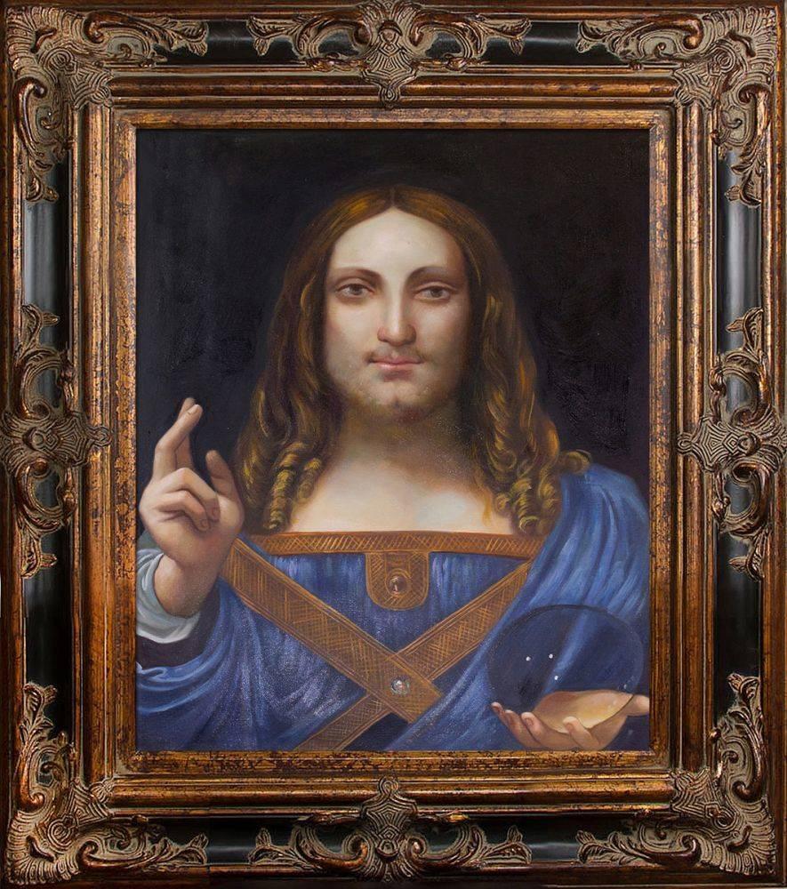 Salvator Mundi Pre-Framed
