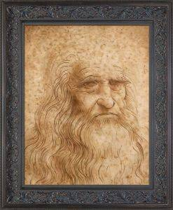 Portrait of a Man in Red Chalk Pre-Framed