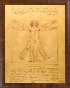 Vitruvian Man Pre-Framed