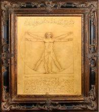 Vitruvia Man Pre-Framed