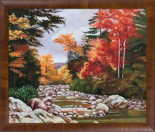 Autumn Tints in the White Mountains, New Hampshire, United States Pre-Framed