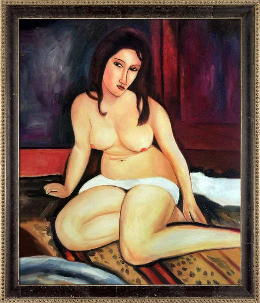 Seated Nude, 1917 Pre-Framed