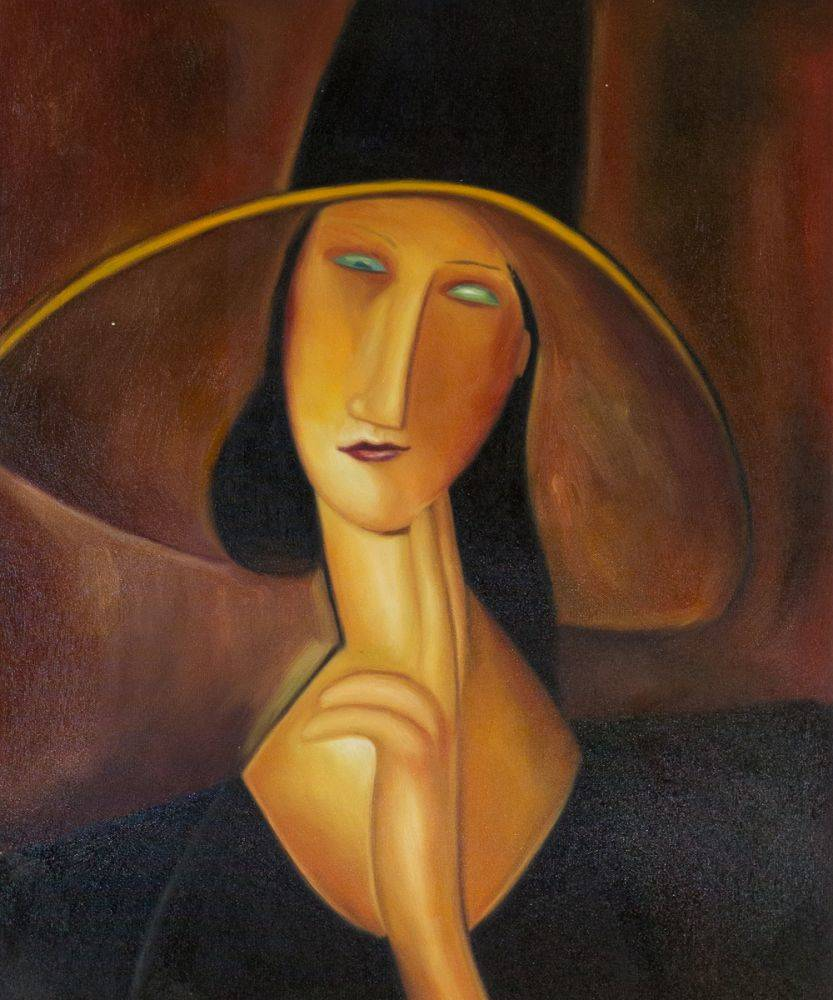 Portrait of Woman in Hat