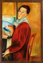 Modigliani, Self-Portrait Pre-Framed