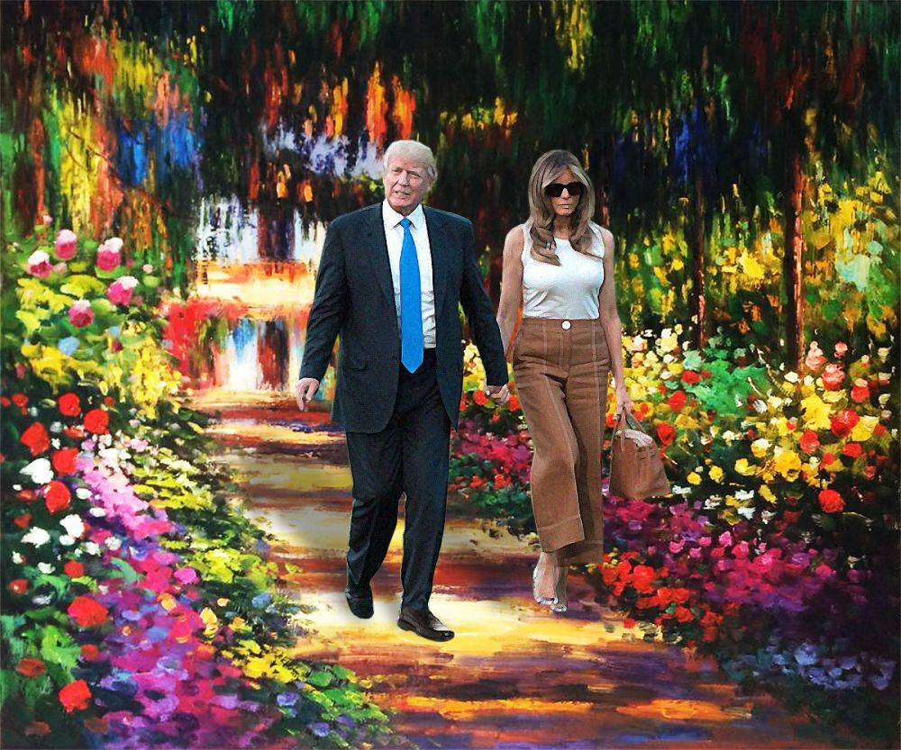 The Trump's in Monet's Garden at Giverny