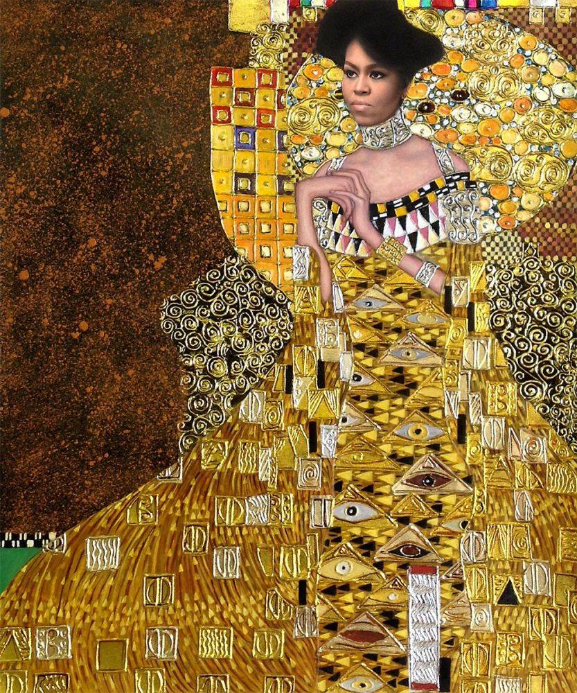 Michelle Obama in Gold