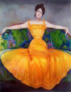 Lady in Yellow Dress