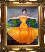 Lady in Yellow Dress Pre-Framed