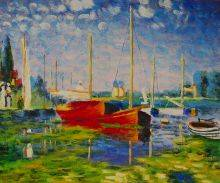 Red Boats at Argenteuil