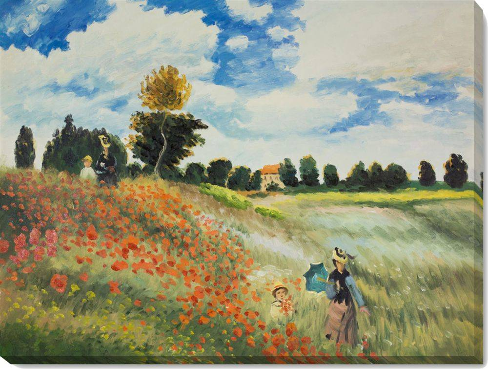 Poppy Field in Argenteuil Pre-Framed
