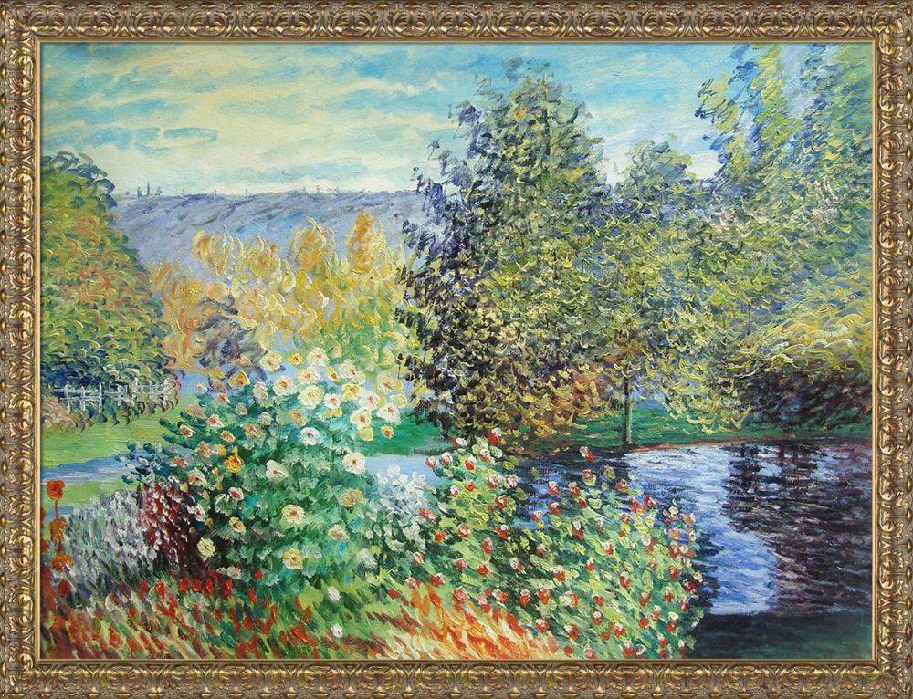 Corner of the Garden at Montgeron Pre-Framed