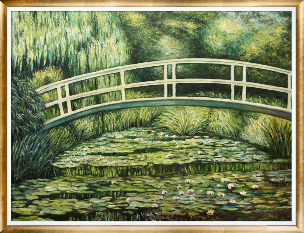 White Water Lilies, 1899 with Gold Luminoso Pre-Framed