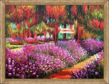 Artist's Garden at Giverny Pre-Framed