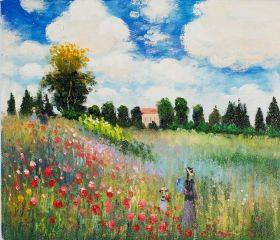 Poppy Field in Argenteuil Oil Painting