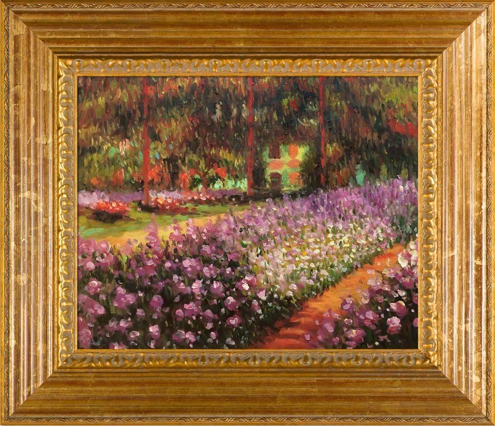 Claude Monet, Artist\'s Garden at Giverny Pre-Framed