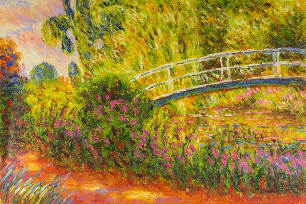The Japanese Bridge (The Water-Lily Pond, Water Irises