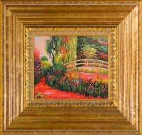 The Japanese Bridge (The Water Lily Pond) Pre-Framed
