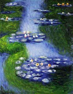 Water Lilies (blue-green)
