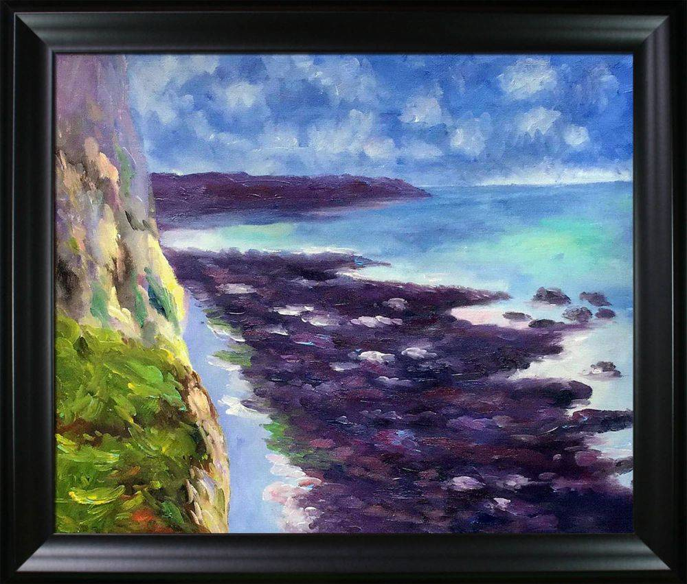 Cliff near Dieppe Pre-Framed