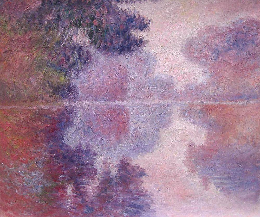Misty Morning on the Seine (pink), 1897