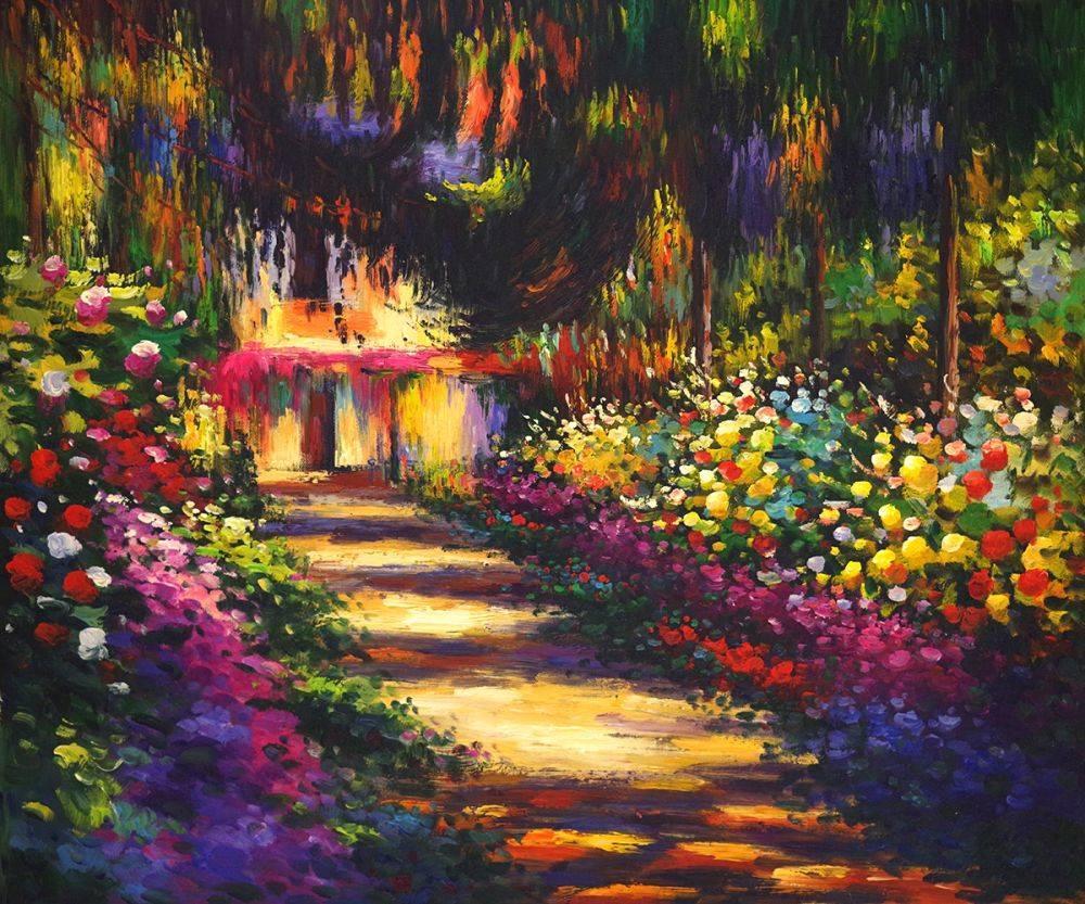 Pathway in Monet\'s Garden at Giverny - Claude Monet