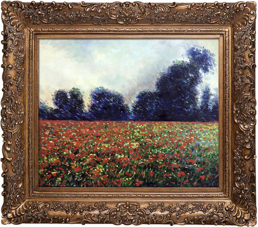 Poppies at Giverny Pre-Framed