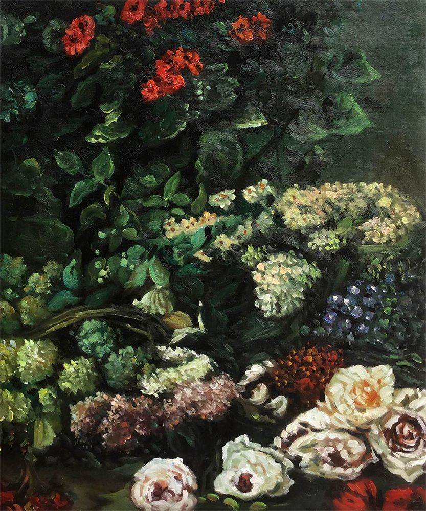 Claude monet spring flowers hand painted oil painting on canvas spring flowers mightylinksfo