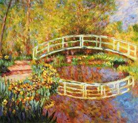 The Japanese Bridge (The Bridge in Monet's Garden - yellow)