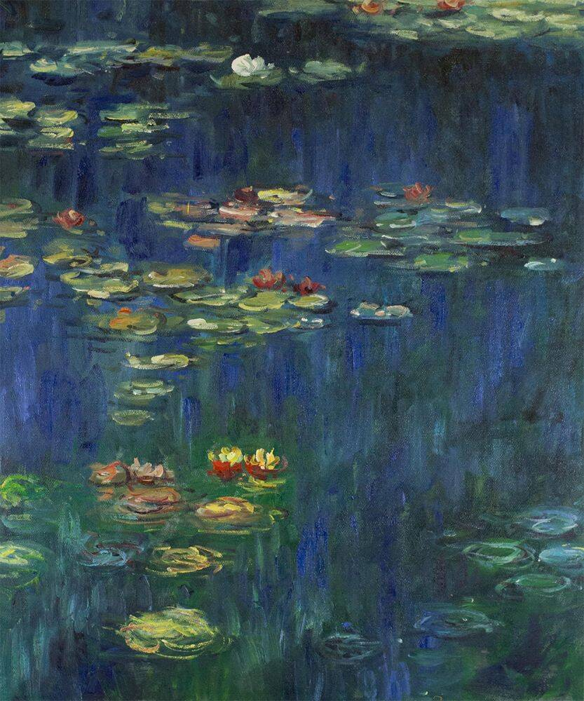 Water Lilies, Green Reflection (left half - detail)