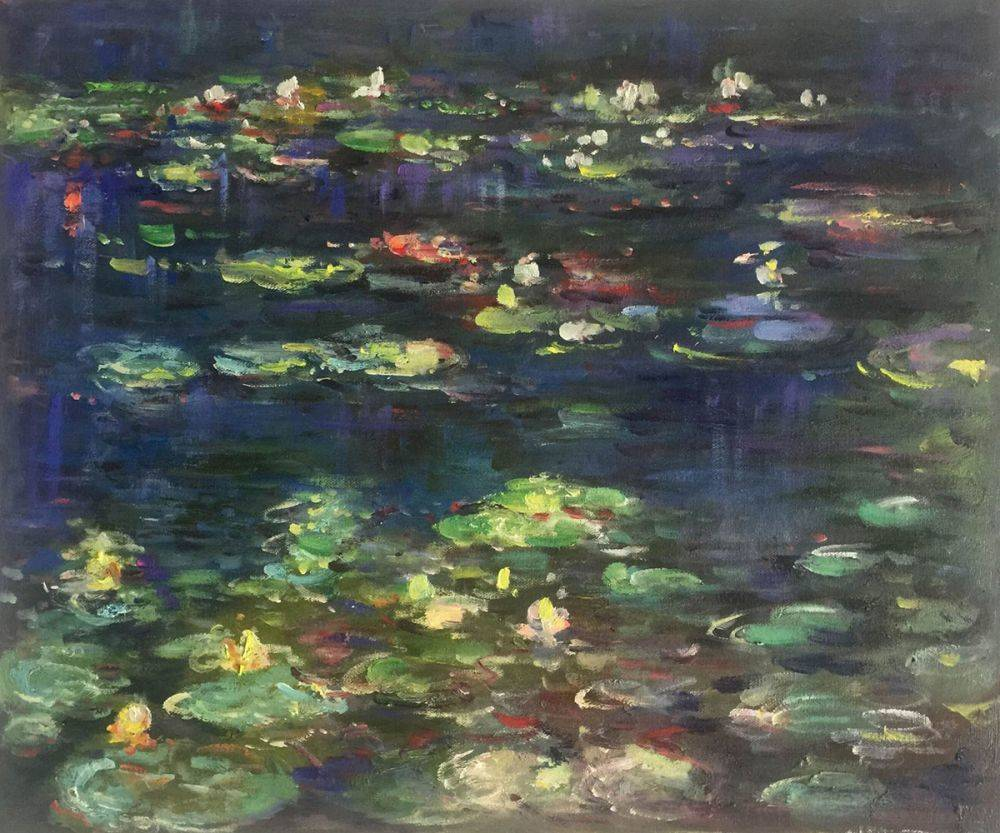 Water Lilies, Green Reflections (right half - detail)