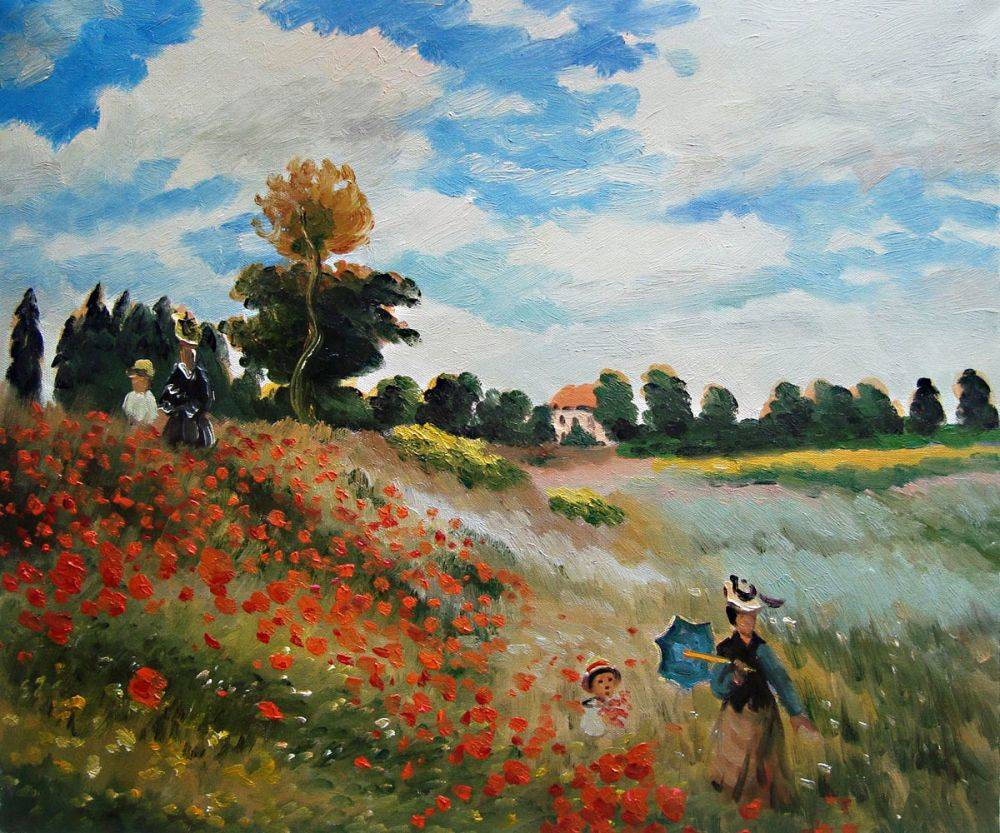 Poppy Flower Field Painting  Wwwpixsharkcom Images Galleries With A Bite