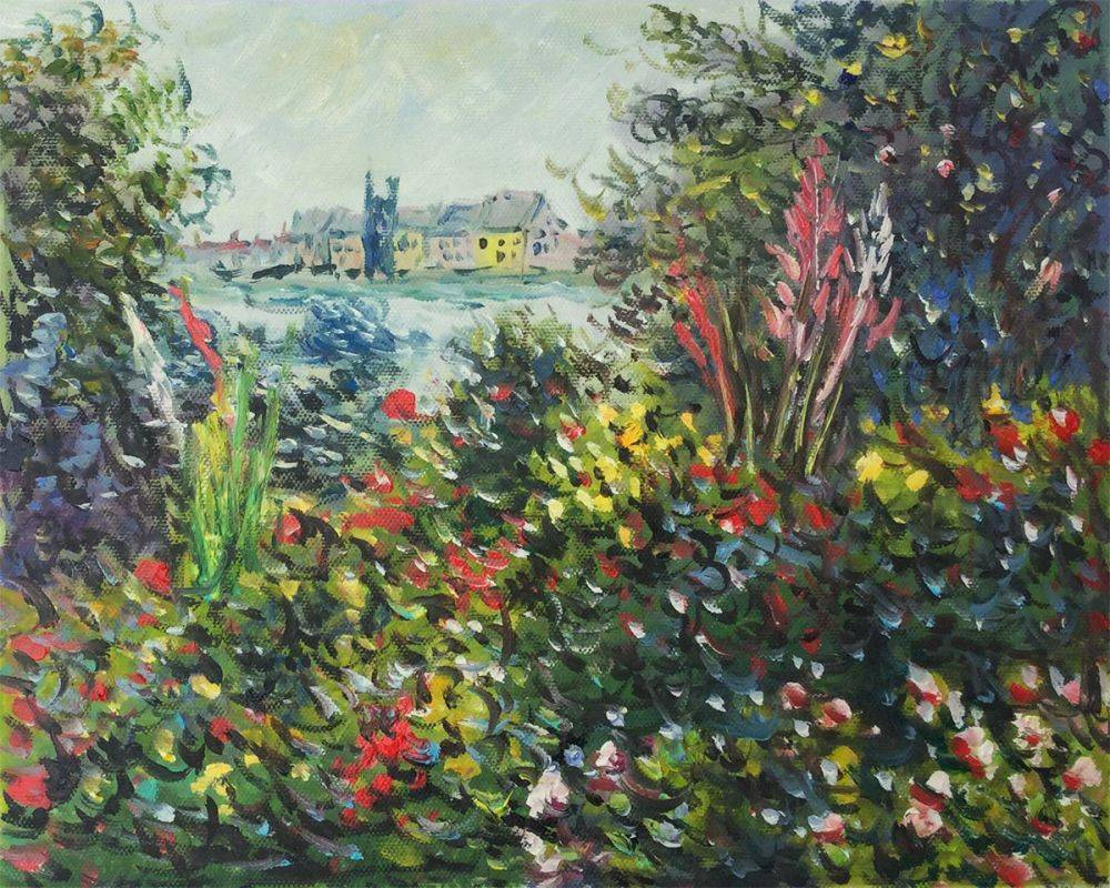 Flowers at Vetheuil, 1881