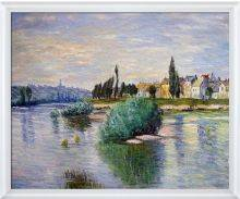 The Seine at Lavacourt Pre-Framed