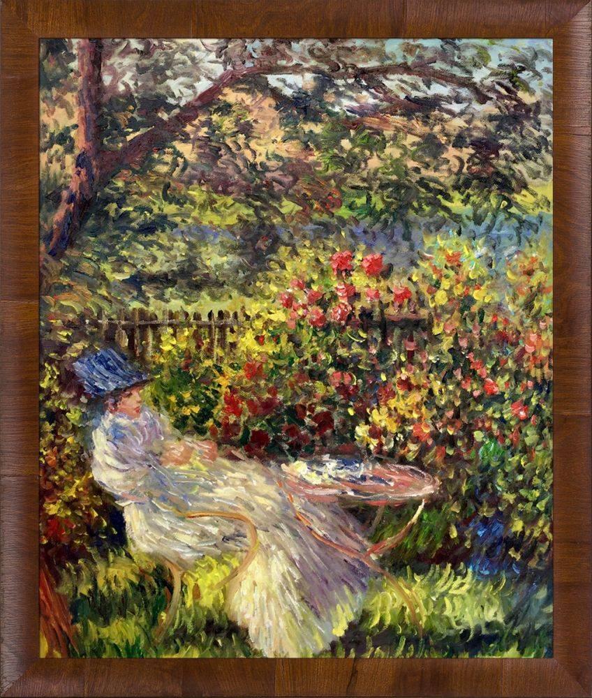 Alice Hoschede Au Jardin Pre-Framed