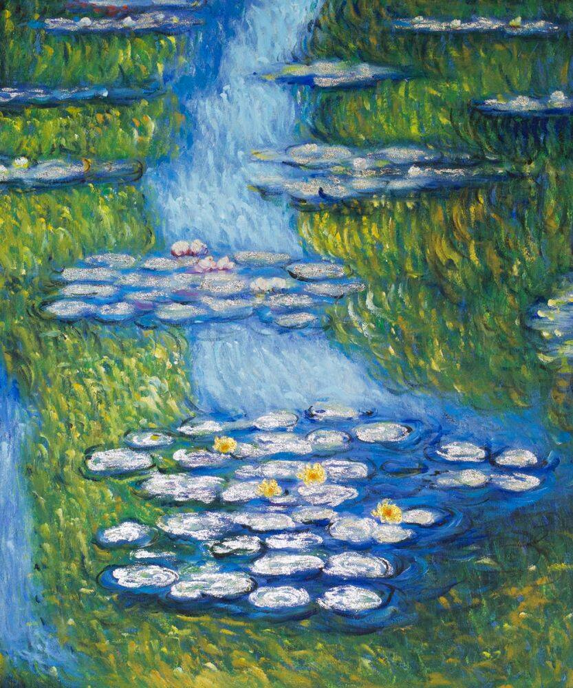 Water Lilies (Blue-Green Silver-Gold)