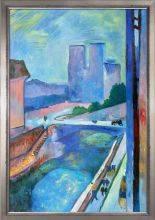 Glimpse of Notre Dame Pre-Framed