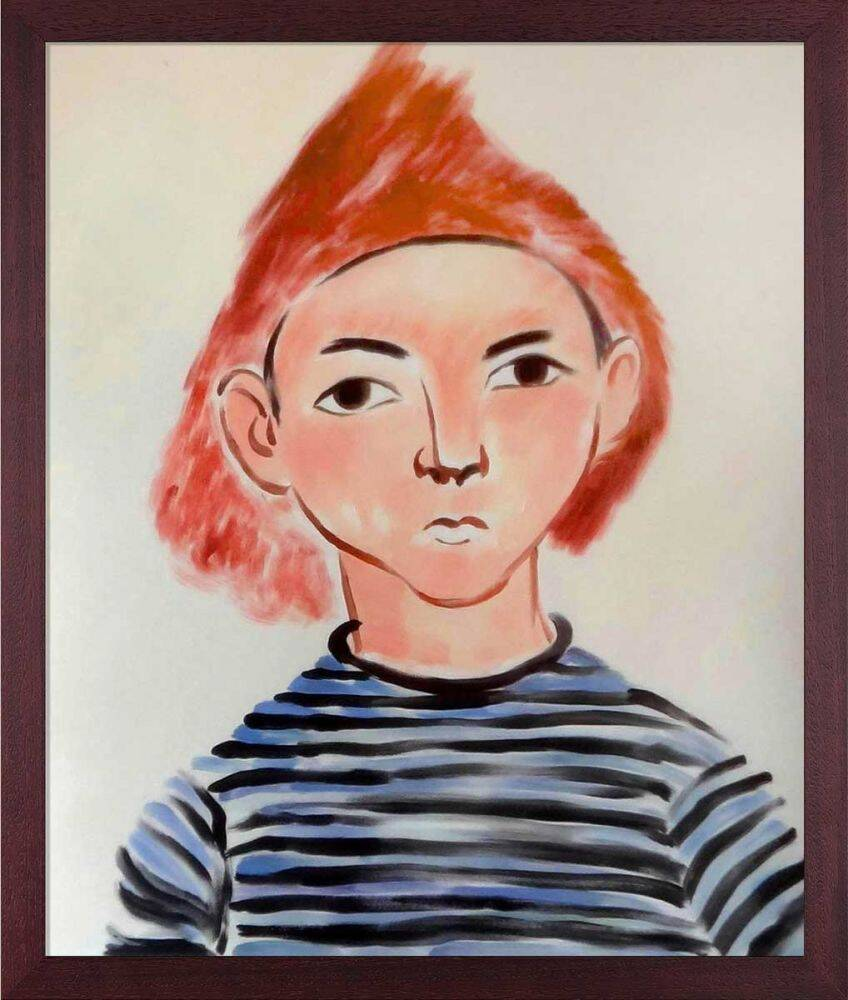 Portrait of Pierre Matisse Pre-Framed