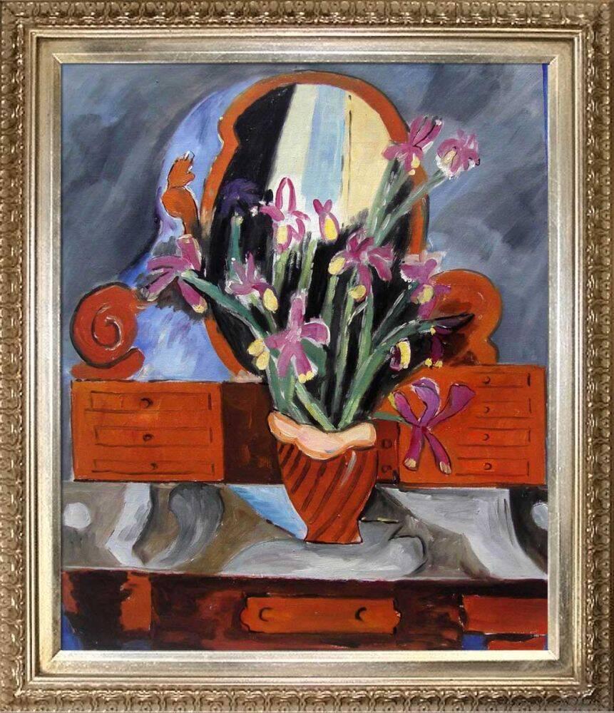 Vase with Iris Pre-Framed