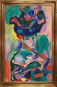 Woman with a Hat Pre-Framed