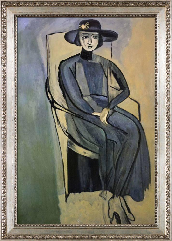 Portrait Of Greta Prozor Pre-Framed
