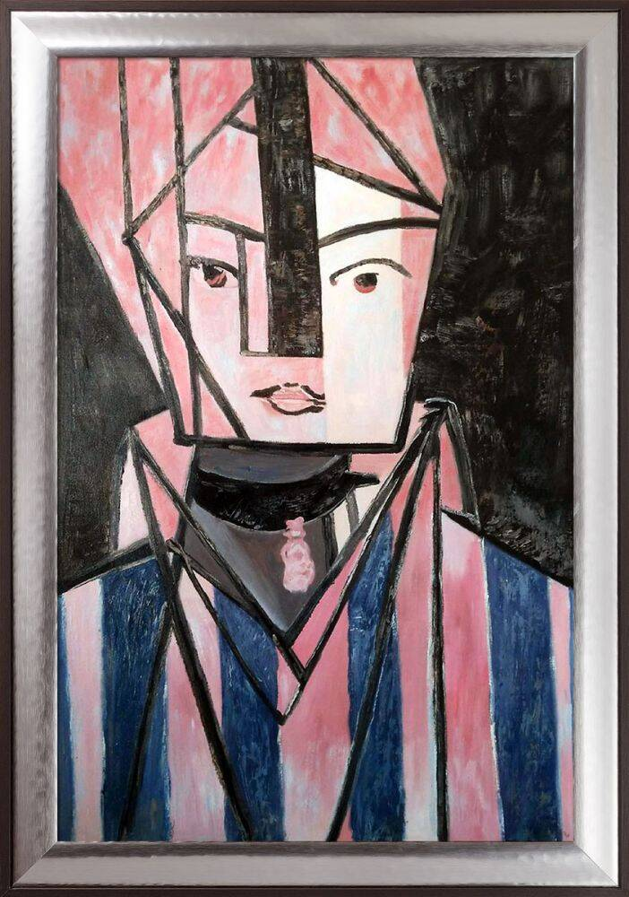 White and Pink Head Pre-Framed