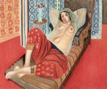 Odalisque with Red Pants