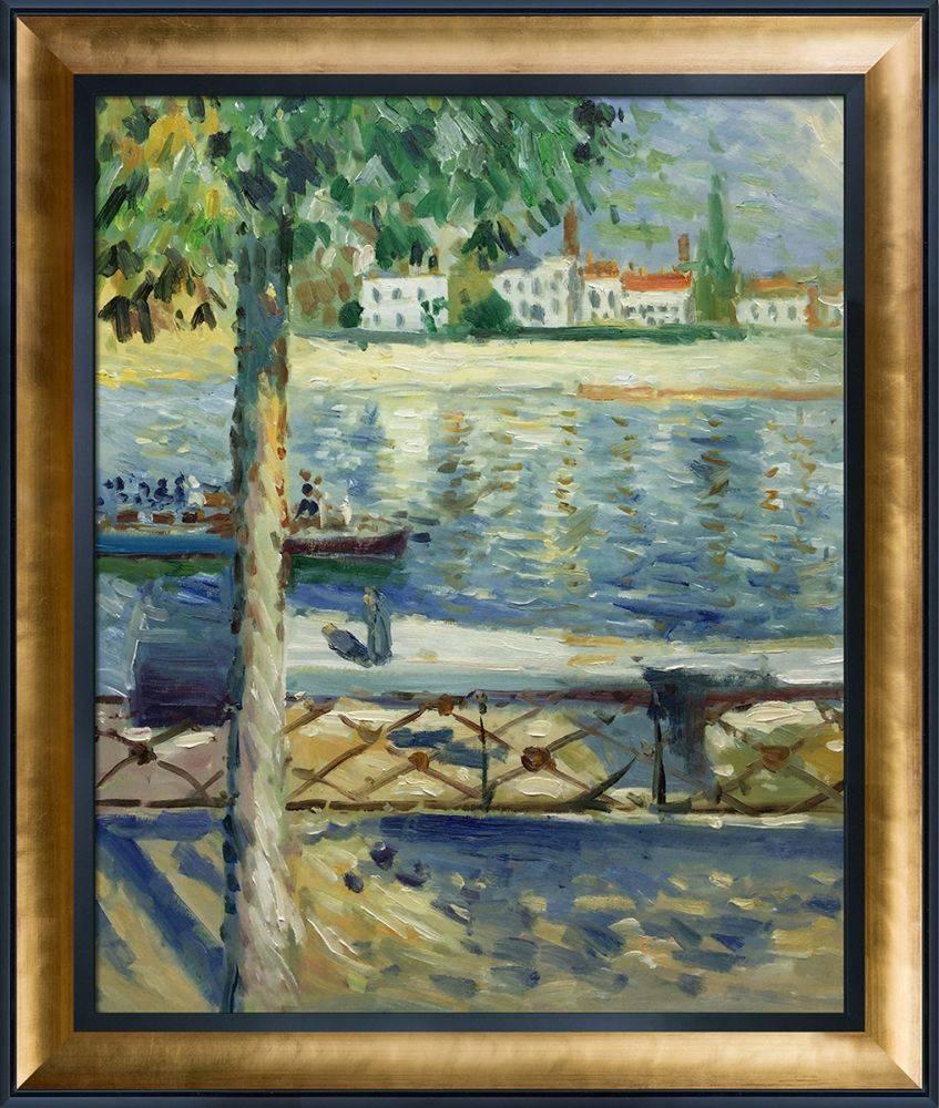 The Seine at Saint-Cloud, 1890 Pre-Framed