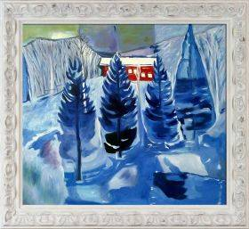 Red House and Spruces, 1927 Pre-Framed