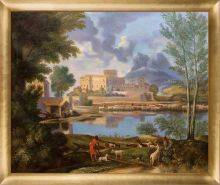 Landscape with a Calm, 1650-1651 Pre-Framed